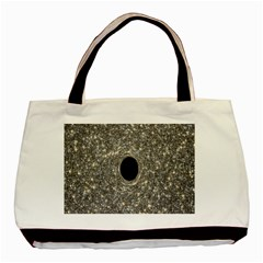 Black Hole Blue Space Galaxy Star Light Basic Tote Bag (two Sides)