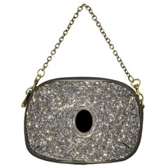 Black Hole Blue Space Galaxy Star Light Chain Purses (two Sides)