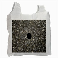 Black Hole Blue Space Galaxy Star Light Recycle Bag (one Side)