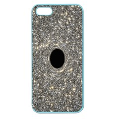 Black Hole Blue Space Galaxy Star Light Apple Seamless Iphone 5 Case (color)