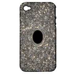 Black Hole Blue Space Galaxy Star Light Apple Iphone 4/4s Hardshell Case (pc+silicone)