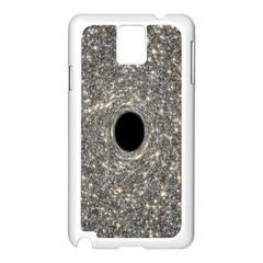 Black Hole Blue Space Galaxy Star Light Samsung Galaxy Note 3 N9005 Case (white)