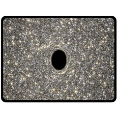 Black Hole Blue Space Galaxy Star Light Double Sided Fleece Blanket (large)