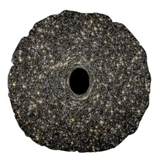 Black Hole Blue Space Galaxy Star Light Large 18  Premium Flano Round Cushions