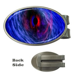 Blue Red Eye Space Hole Galaxy Money Clips (oval)