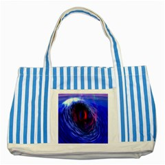 Blue Red Eye Space Hole Galaxy Striped Blue Tote Bag