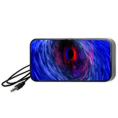 Blue Red Eye Space Hole Galaxy Portable Speaker (black)