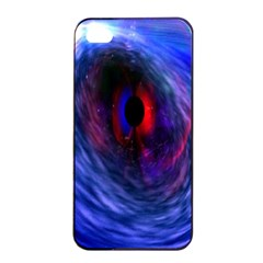 Blue Red Eye Space Hole Galaxy Apple Iphone 4/4s Seamless Case (black)