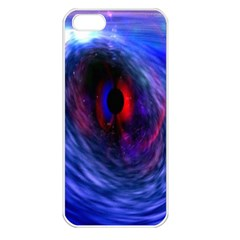 Blue Red Eye Space Hole Galaxy Apple Iphone 5 Seamless Case (white)