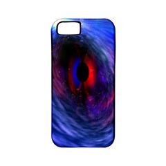 Blue Red Eye Space Hole Galaxy Apple Iphone 5 Classic Hardshell Case (pc+silicone)