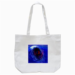 Blue Red Eye Space Hole Galaxy Tote Bag (white)