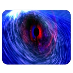 Blue Red Eye Space Hole Galaxy Double Sided Flano Blanket (medium)