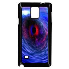 Blue Red Eye Space Hole Galaxy Samsung Galaxy Note 4 Case (black)