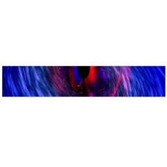 Blue Red Eye Space Hole Galaxy Flano Scarf (large)