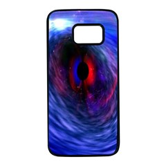 Blue Red Eye Space Hole Galaxy Samsung Galaxy S7 Black Seamless Case