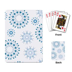 Blue Winter Snowflakes Star Triangle Playing Card