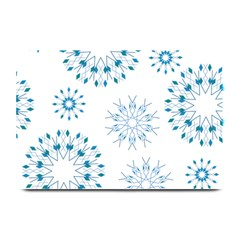 Blue Winter Snowflakes Star Triangle Plate Mats