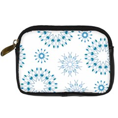 Blue Winter Snowflakes Star Triangle Digital Camera Cases