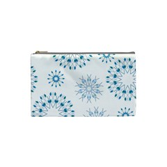 Blue Winter Snowflakes Star Triangle Cosmetic Bag (small)