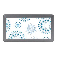 Blue Winter Snowflakes Star Triangle Memory Card Reader (mini)