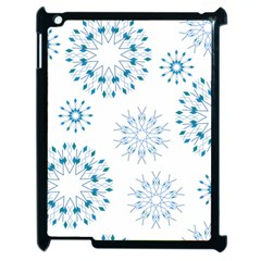 Blue Winter Snowflakes Star Triangle Apple Ipad 2 Case (black)