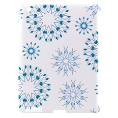 Blue Winter Snowflakes Star Triangle Apple Ipad 3/4 Hardshell Case (compatible With Smart Cover)