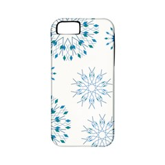 Blue Winter Snowflakes Star Triangle Apple Iphone 5 Classic Hardshell Case (pc+silicone)