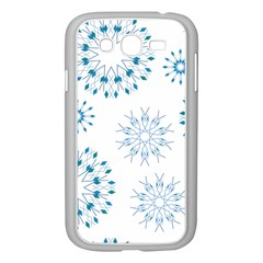 Blue Winter Snowflakes Star Triangle Samsung Galaxy Grand Duos I9082 Case (white)