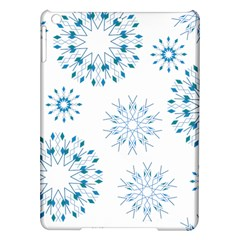 Blue Winter Snowflakes Star Triangle Ipad Air Hardshell Cases