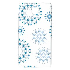 Blue Winter Snowflakes Star Triangle Galaxy Note 4 Back Case