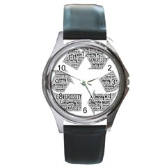 Recycling Generosity Consumption Round Metal Watch