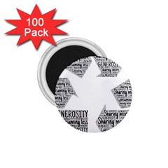 Recycling Generosity Consumption 1 75  Magnets (100 Pack)