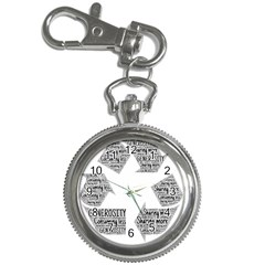 Recycling Generosity Consumption Key Chain Watches