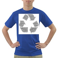 Recycling Generosity Consumption Dark T Shirt