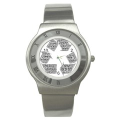 Recycling Generosity Consumption Stainless Steel Watch