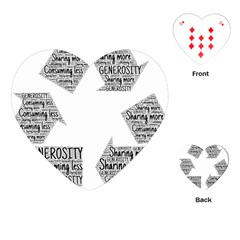 Recycling Generosity Consumption Playing Cards (heart)