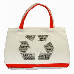 Recycling Generosity Consumption Classic Tote Bag (red)
