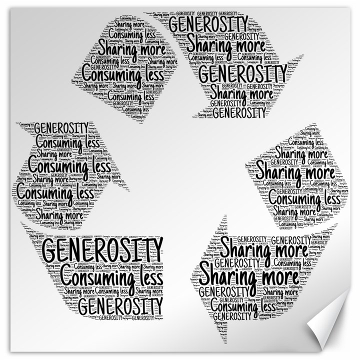 Recycling Generosity Consumption Canvas 16  x 16