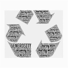 Recycling Generosity Consumption Small Glasses Cloth (2 Side)