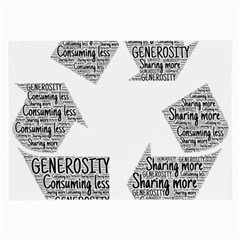 Recycling Generosity Consumption Large Glasses Cloth