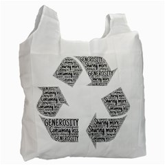 Recycling Generosity Consumption Recycle Bag (two Side)