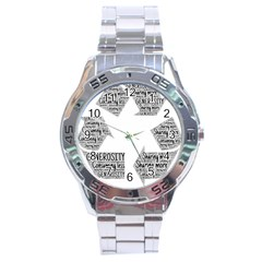 Recycling Generosity Consumption Stainless Steel Analogue Watch