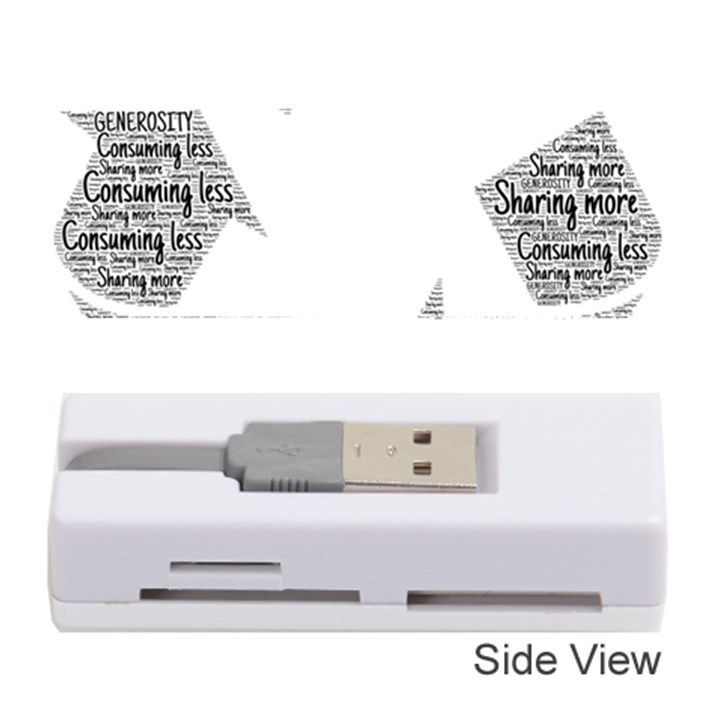 Recycling Generosity Consumption Memory Card Reader (Stick)