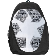 Recycling Generosity Consumption Backpack Bag