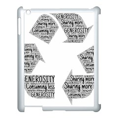 Recycling Generosity Consumption Apple Ipad 3/4 Case (white)