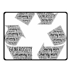 Recycling Generosity Consumption Double Sided Fleece Blanket (small)