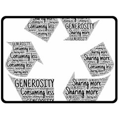 Recycling Generosity Consumption Double Sided Fleece Blanket (large)