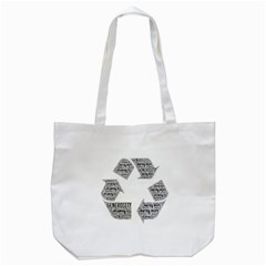 Recycling Generosity Consumption Tote Bag (white)