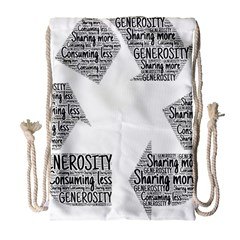 Recycling Generosity Consumption Drawstring Bag (large)