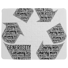 Recycling Generosity Consumption Jigsaw Puzzle Photo Stand (rectangular)